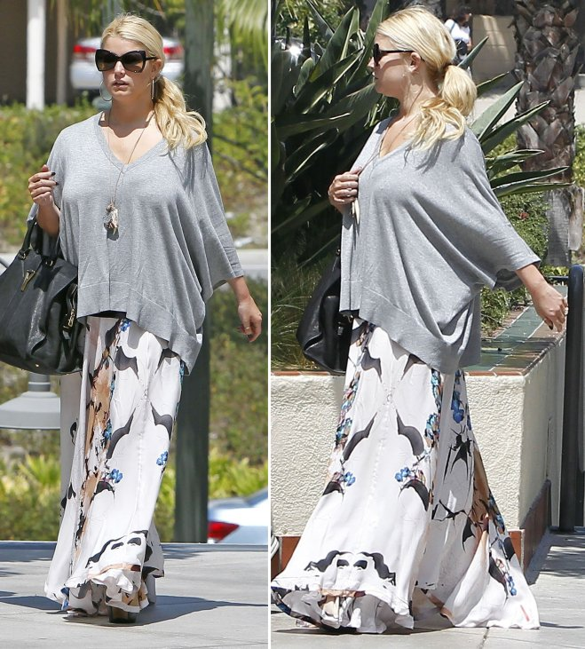 "b11681cd740 Jessica Simpson Styling Her ""Dany"" Shoes from Her Collection"